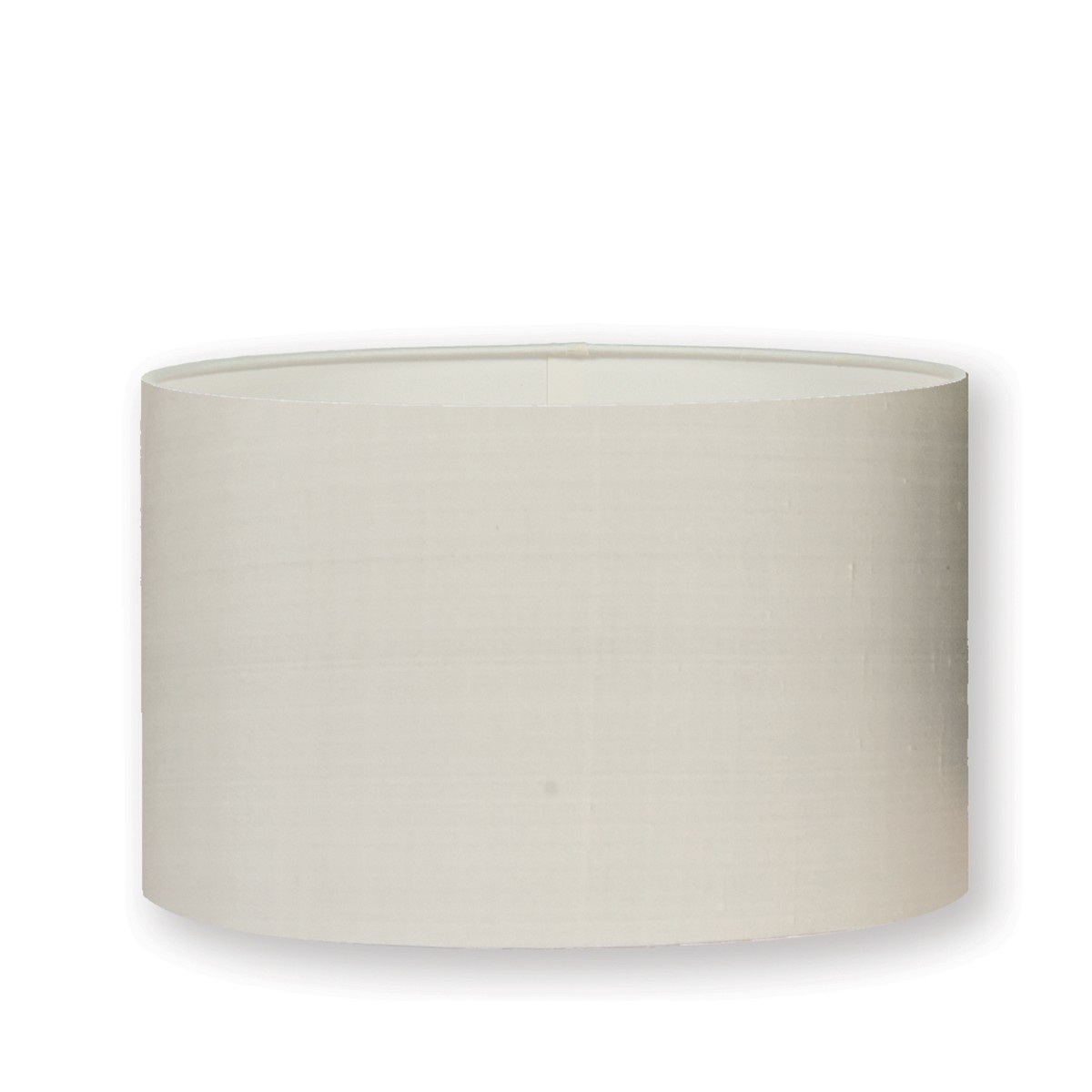 "William Yeoward   Silk 18"" Drum Lampshade Chalk"