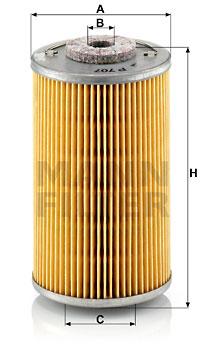 Polttoainesuodatin MANN-FILTER P 707
