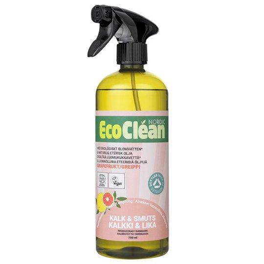 EcoClean Nordic Naturlig Kalk- & Smutsborttagning Grapefrukt, 750 ml