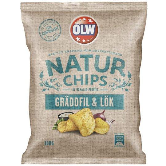 Chips Gräddfil & Lök 180g - 32% rabatt