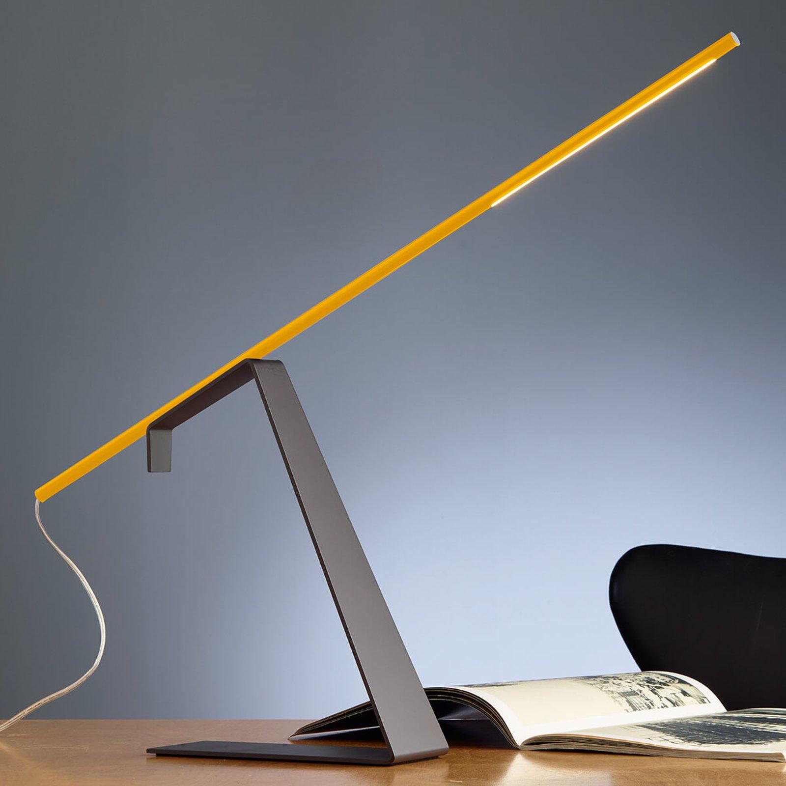 Jella gul designerskrivebordslampe med LED-lys