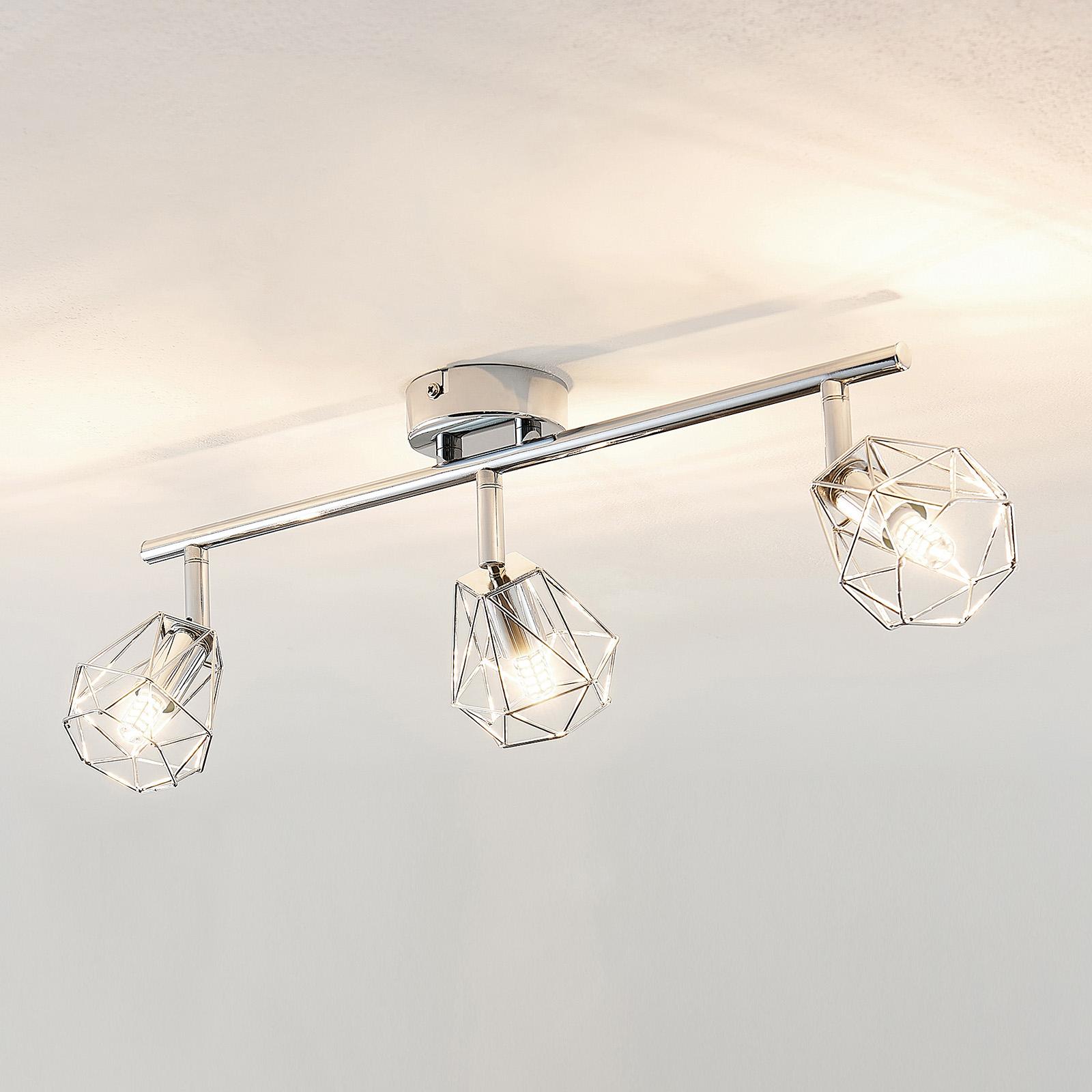 Lindby Giada LED -kattovalaisin, kolmilamppuinen