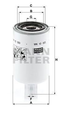 Polttoainesuodatin MANN-FILTER WK 10 003