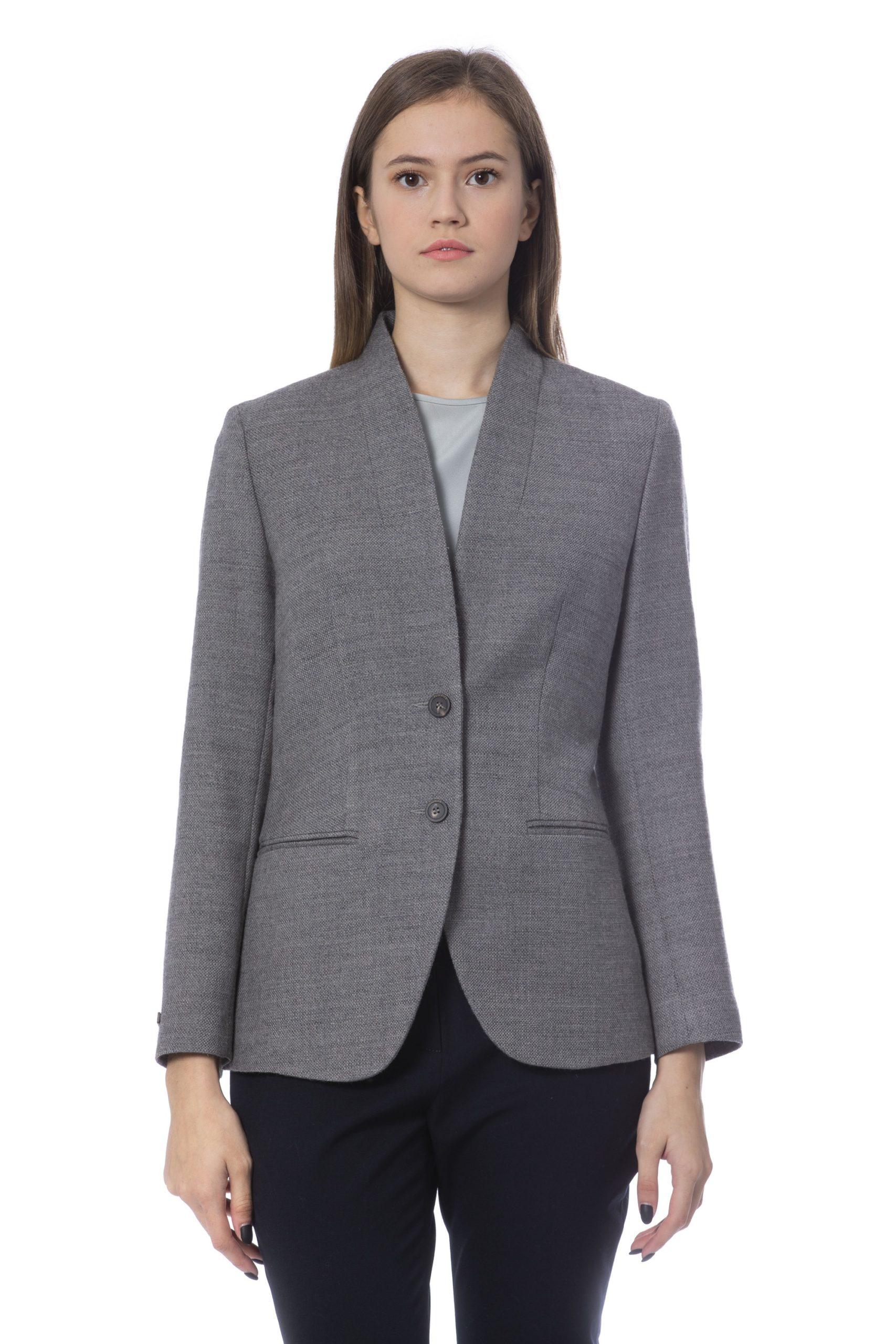 Peserico Women's Jacket Grey PE854542 - IT46 | L
