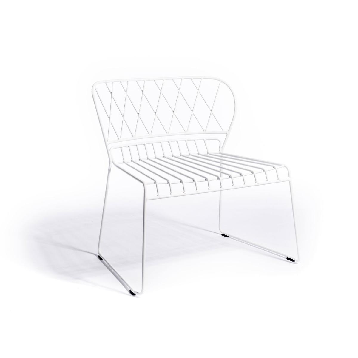 Resö Lounge stol vit metall, Skargaarden