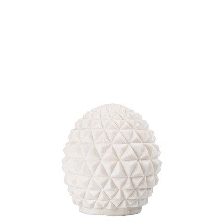 Bordlampe Globe Hvit h: 14cm