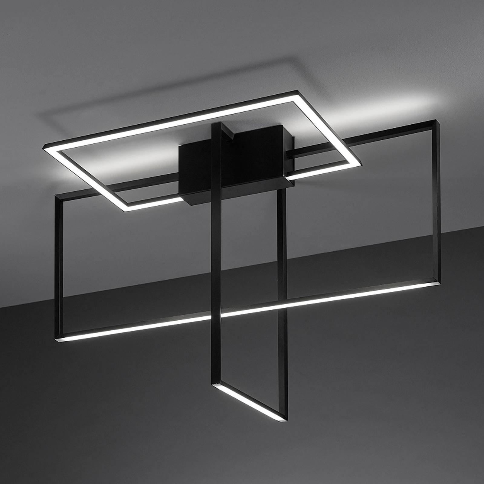 LED-taklampe Area i svart