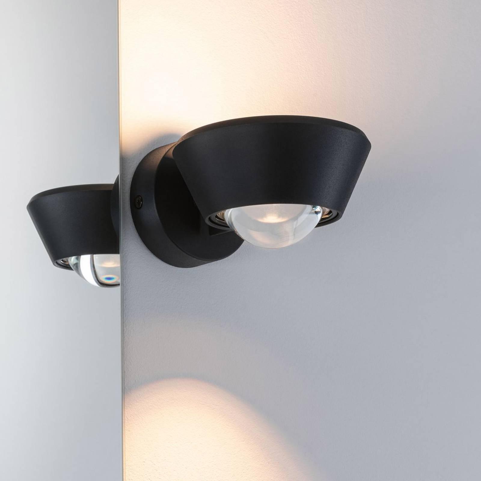 Paulmann Sabik -LED-seinävalaisin up/down, musta