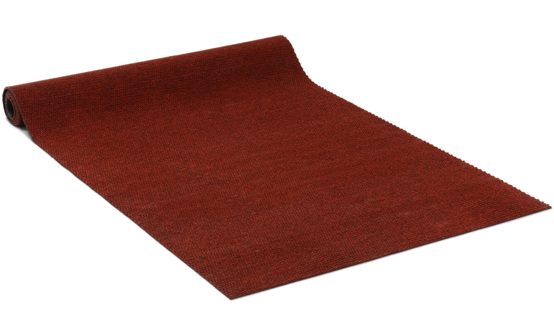 Cajun rød - entrématte på metervare