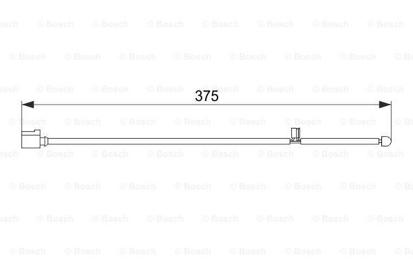 Jarrupalan kulumisen ilmaisin BOSCH 1 987 474 562