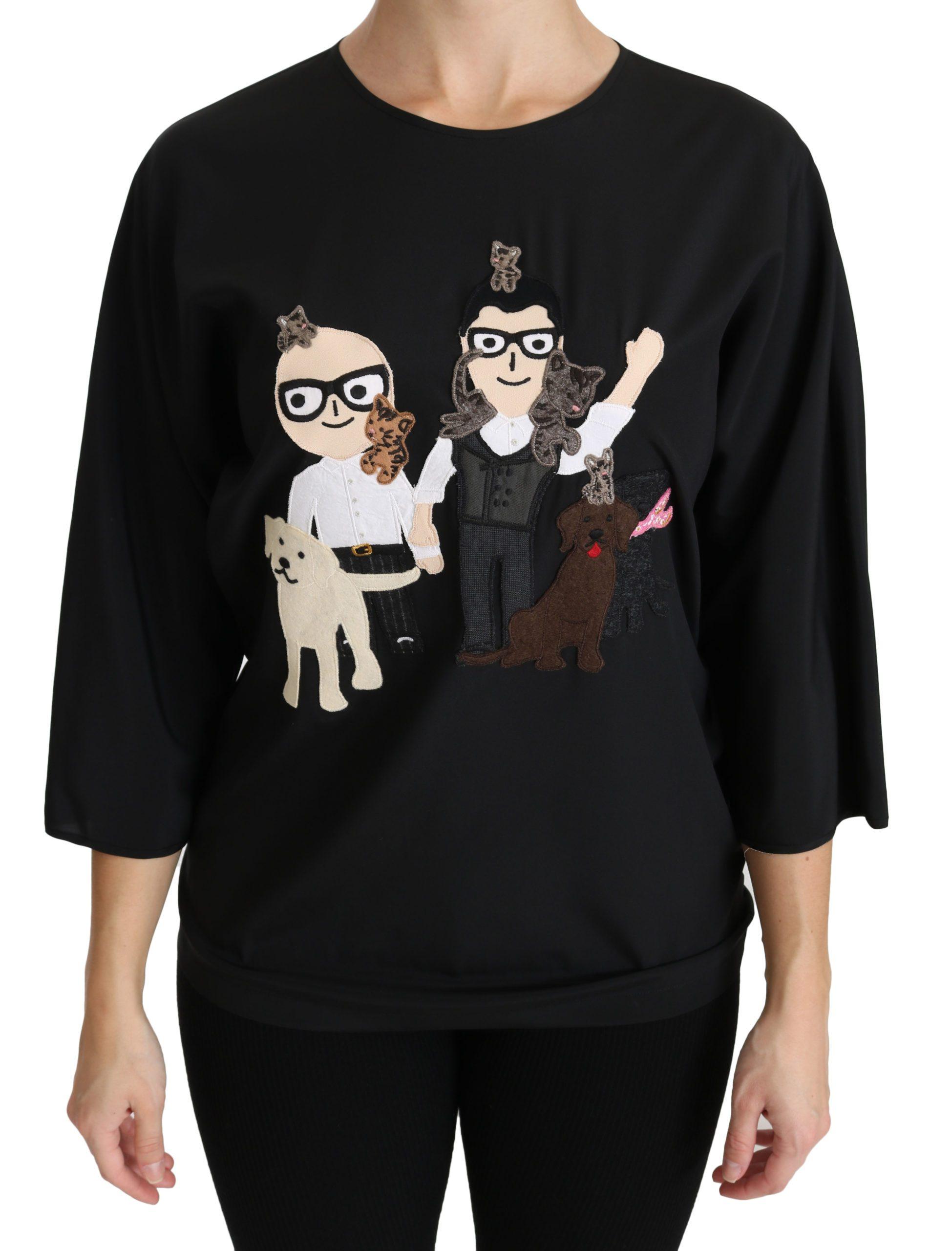 Dolce & Gabbana Women's #dgfamily T-shirt Black TSH4271-36 - IT38|XS
