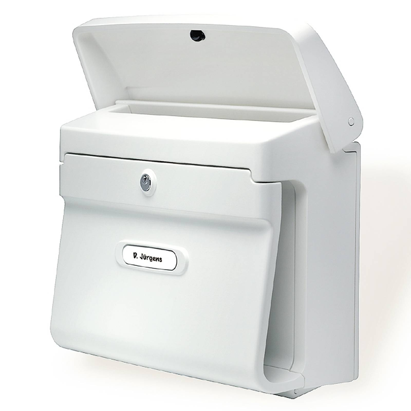Bremen-postilaatikko muovia, valkoinen