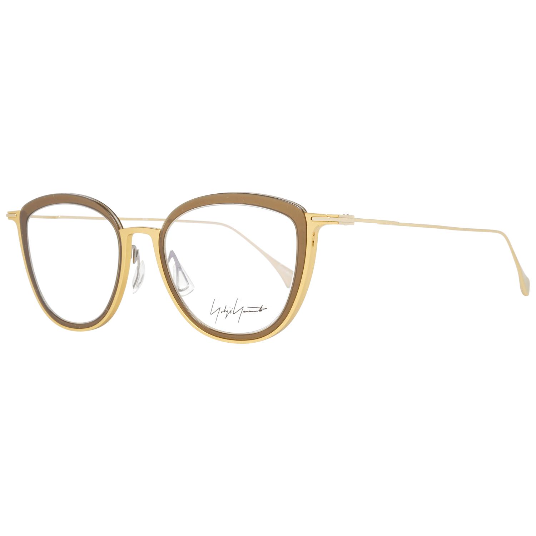 Yohji Yamamoto Women's Optical Frames Eyewear Gold YY1041 49401