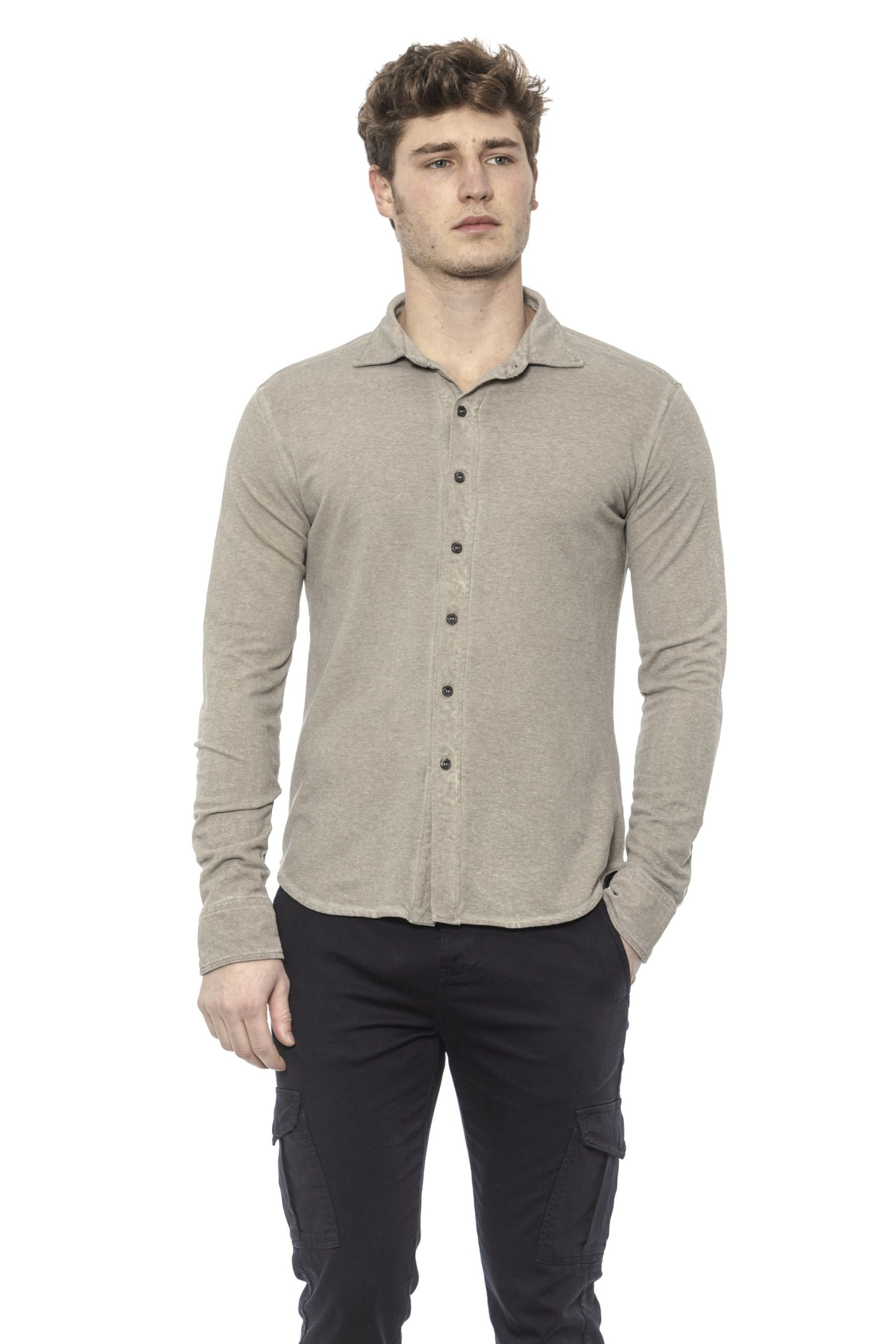 Alpha Studio Men's Corda Shirt Beige AL1394990 - IT48   M