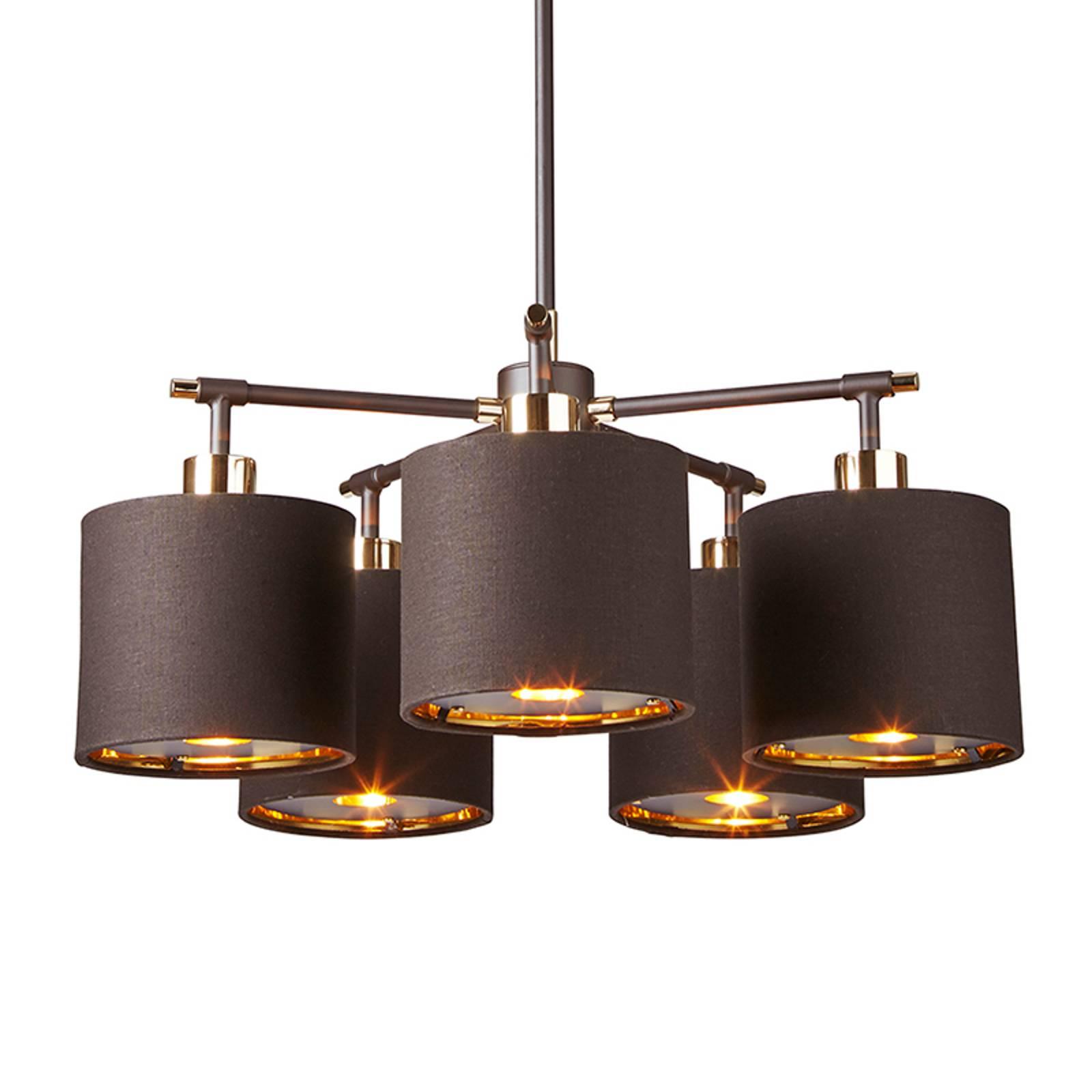 Balance – 5-lamp. riippuvalaisin, ruskea-messinki