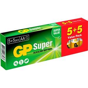 Batteri GP Alkaliner AA, 5+5-pack