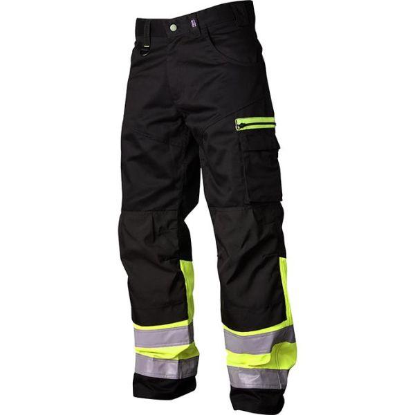 Vidar Workwear V500551C046 Vyötäröhousut musta/keltainen C46
