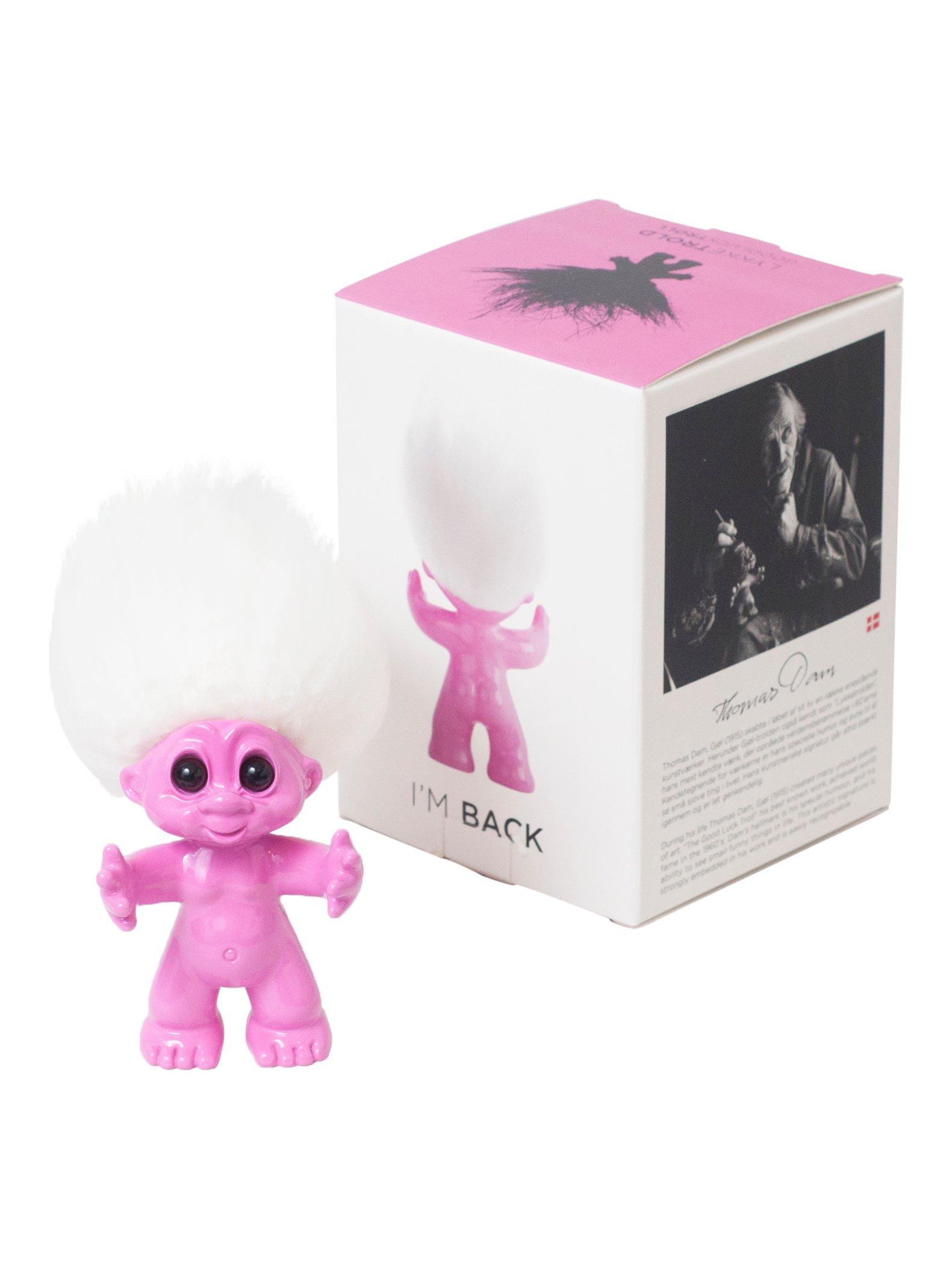 Good Luck Troll - Gjøl Trold 9 cm. - Pink (92863)