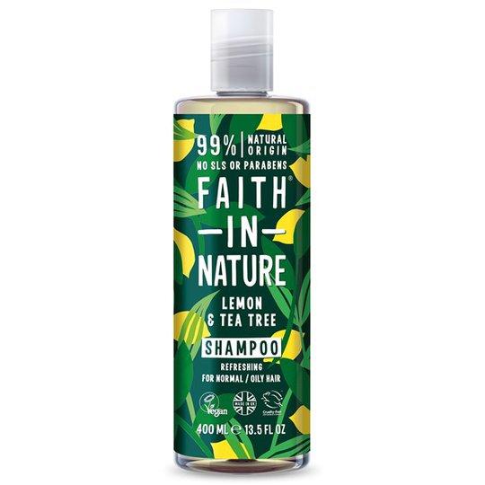 Faith in Nature Lemon & Tea Tree Shampoo, 400 ml