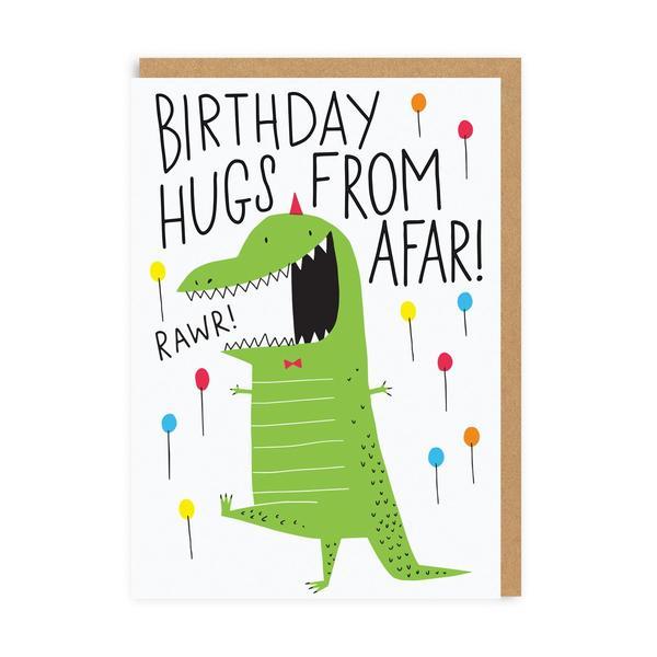 Birthday Hugs From Afar Greeting Card