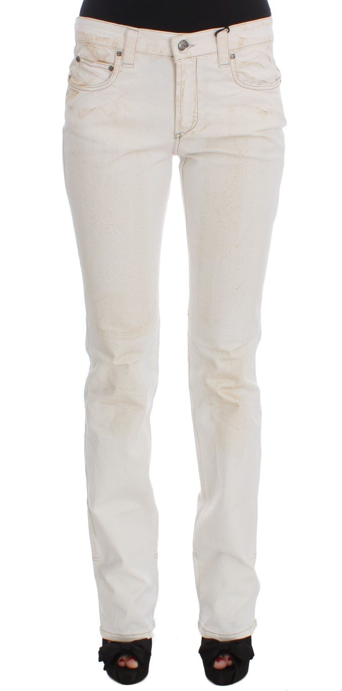 Costume National Women's Cotton Slim Fit Bootcut Jeans White SIG32590 - W26