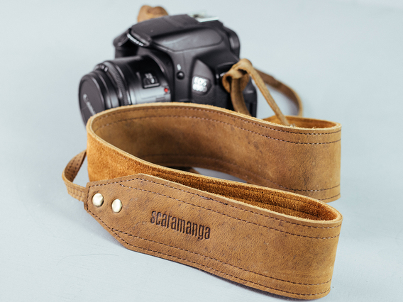 Leather Camera Strap with Padding