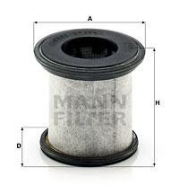 Suodatin, kampikammiotuuletus MANN-FILTER LC 10 001 x