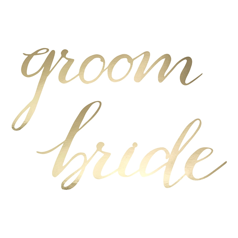 Stolsdekoration Bride & Groom