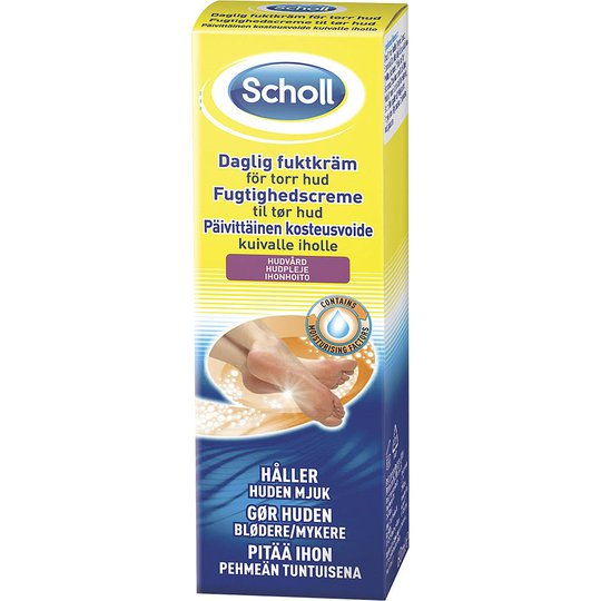 Daily Moisture Cream, 75 ml Scholl Jalkojenhoito