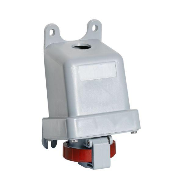 ABB 2CMA167180R1000 Seinäpistorasia IP67, 32 A, ulkoinen kiinnitys 4-napainen, Punainen