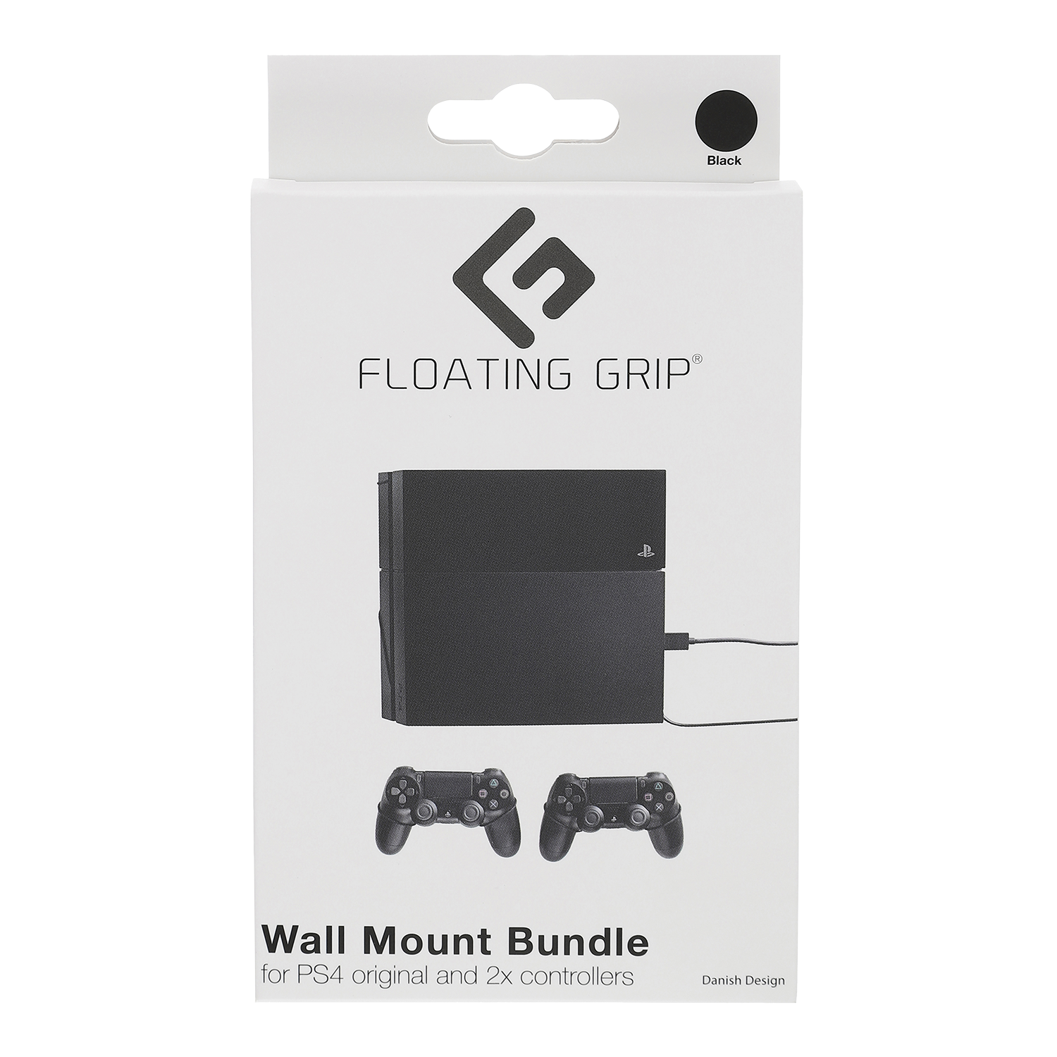 Floating Grip Playstation 4 and Controller Wall Mount - Bundle (Black)