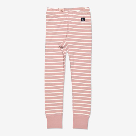 Stripet bukse rosa