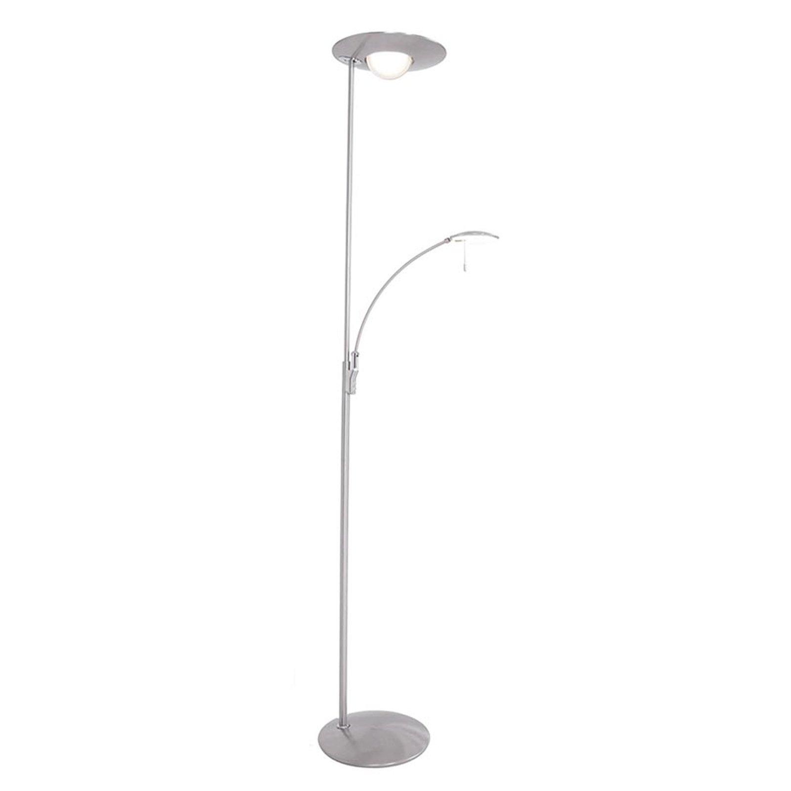 Med dimmer – LED-gulvlampe Zenith med leselampe