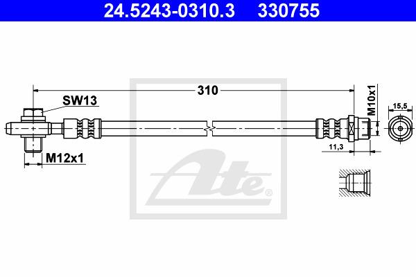 Jarruletku ATE 24.5243-0310.3