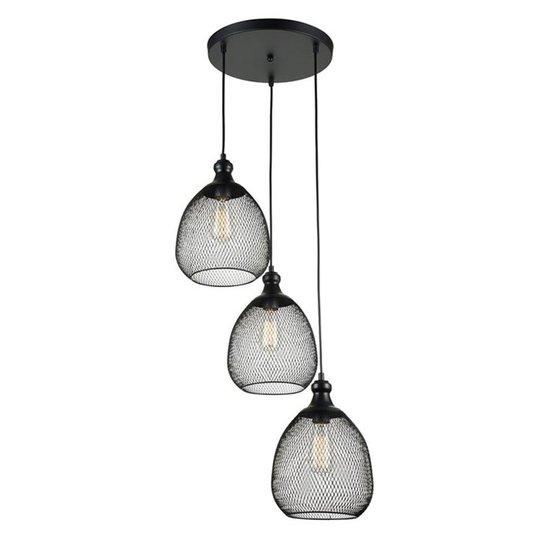 3-lamppuinen riippuvalaisin Grille häkki-tyylillä