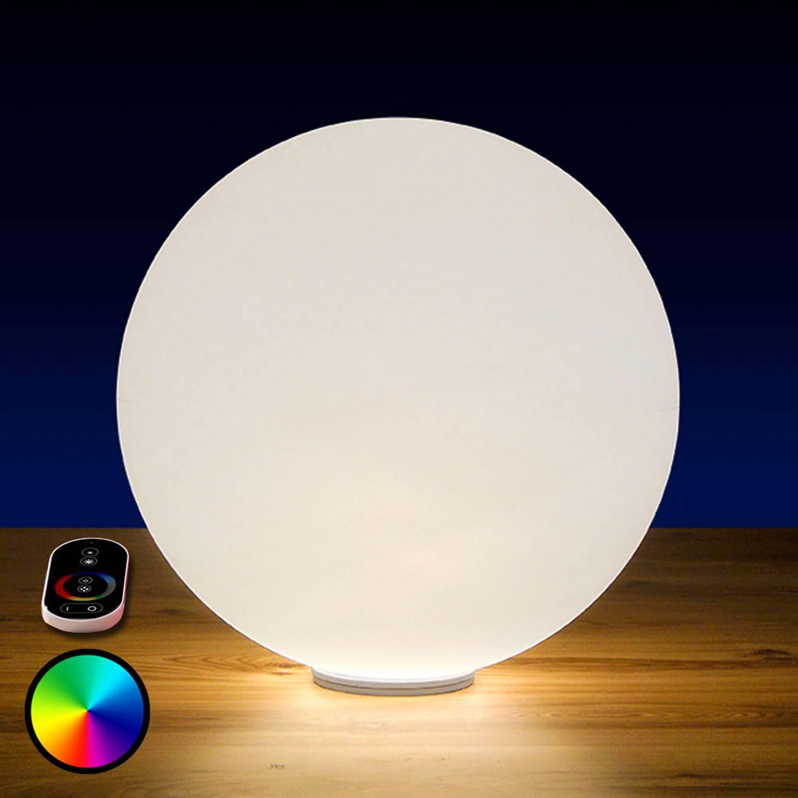 RGB-LED-pallo Snowball ulkokäyttöön, akku, 60 cm
