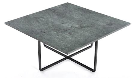 Ninety 80x80 soffbord - Grön indio/svartlackerad metallstomme