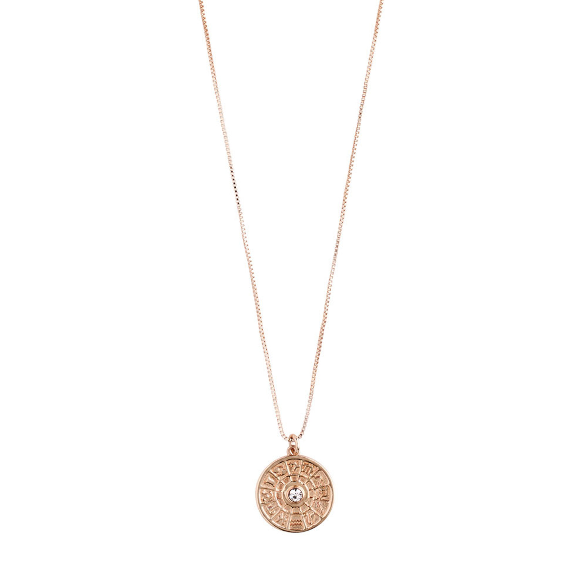 Necklace : Fia : Rose Gold Plated : Crystal, ONE SIZE