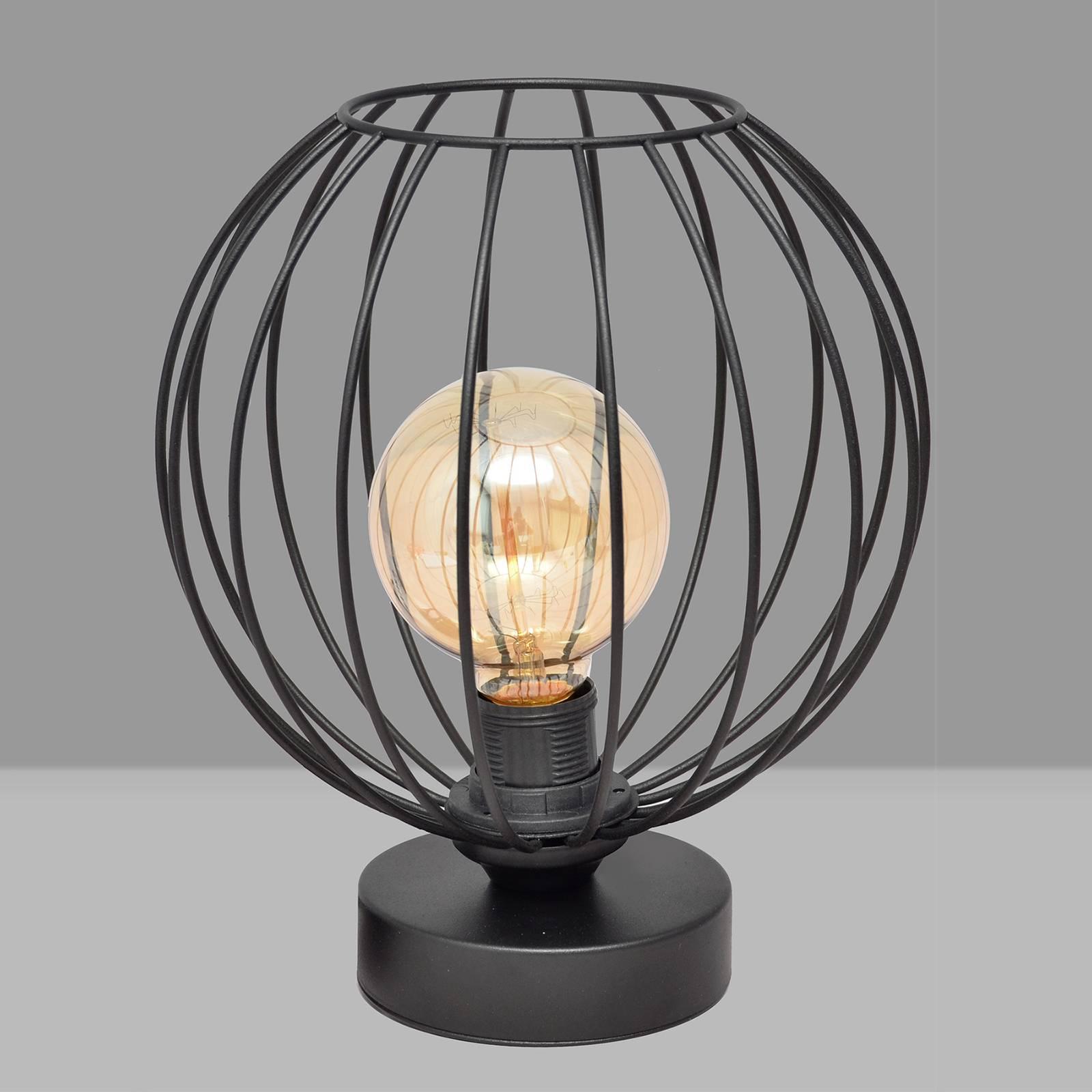 Pöytälamppu Cumera häkkivarjostimella, Ø 24 cm