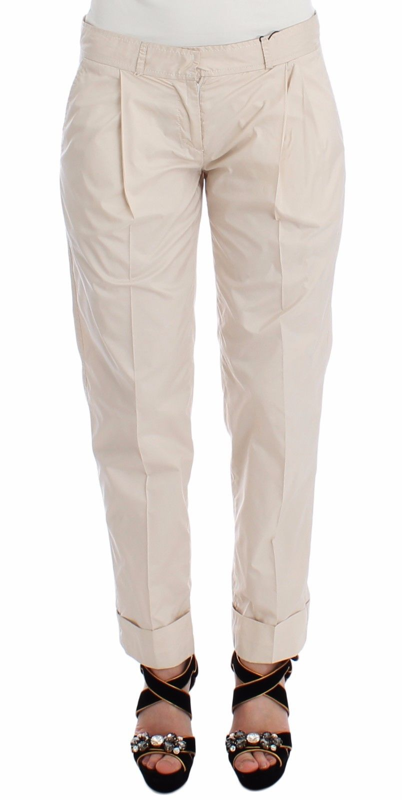 Ermanno Scervino Women's Chinos Trouser Beige MOM26754 - IT40 S