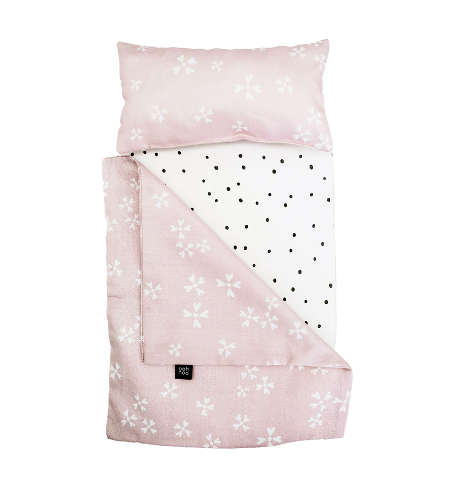 Ooh Noo - Dolly Cot Bedding, Blushing Blossoms Cotton (40DCB1606)