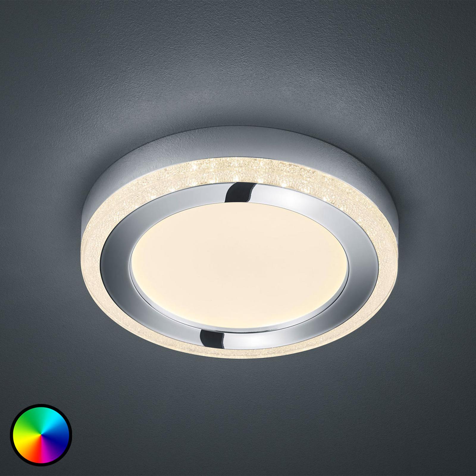 LED-kattovalaisin Slide, valkoinen, pyöreä, Ø 25cm