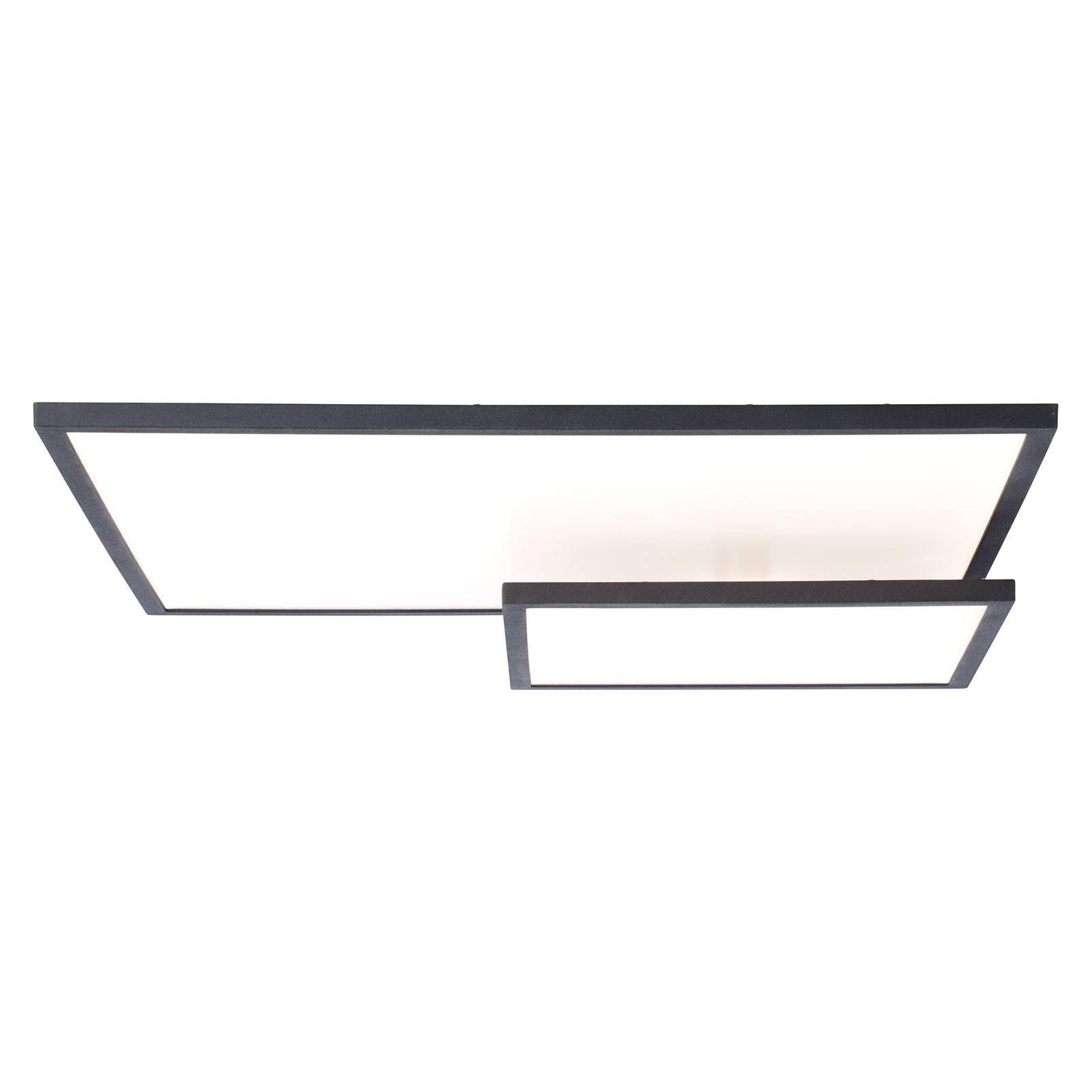 Bility-LED-kattovalo, pituus 62 cm, musta kehys