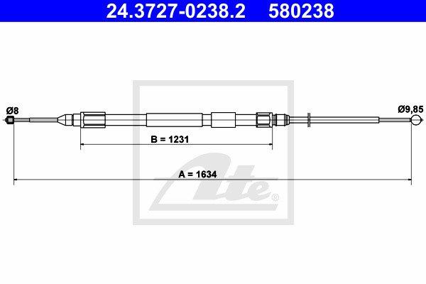 Käsijarruvaijeri ATE 24.3727-0238.2