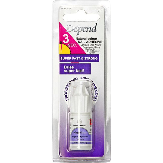 Depend Natural Nail Glue -kynsiliima, 6000, 3 g Depend Tekokynnet