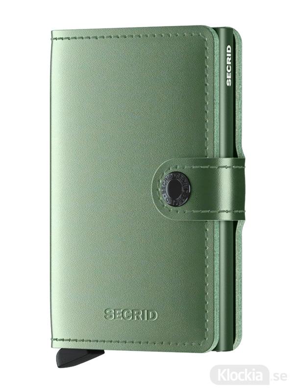 Plånbok SECRID Miniwallet Metallic Green