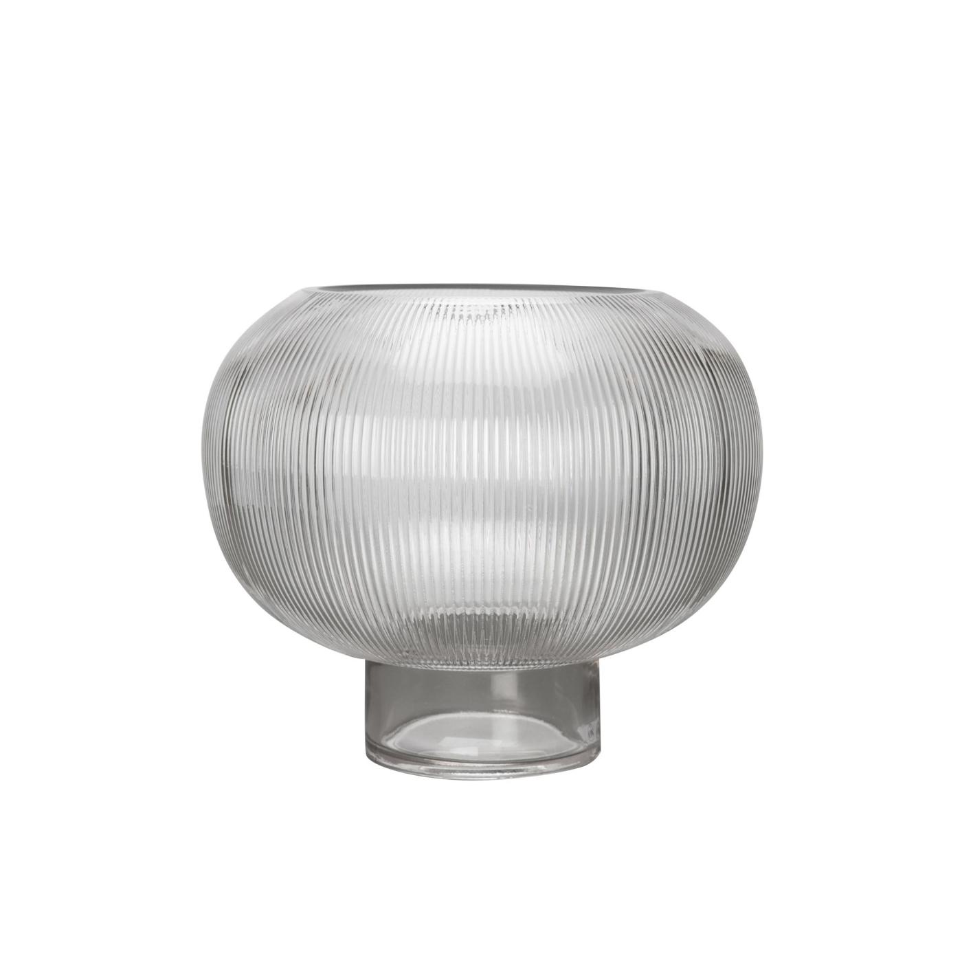 Glasvas räfflat glas Sphere By ON