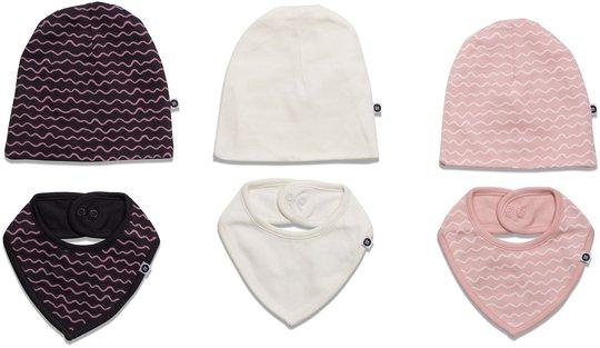 MiniMys Lue & Tøysmekke 6-Pack Yarn, Silver Pink 56-62