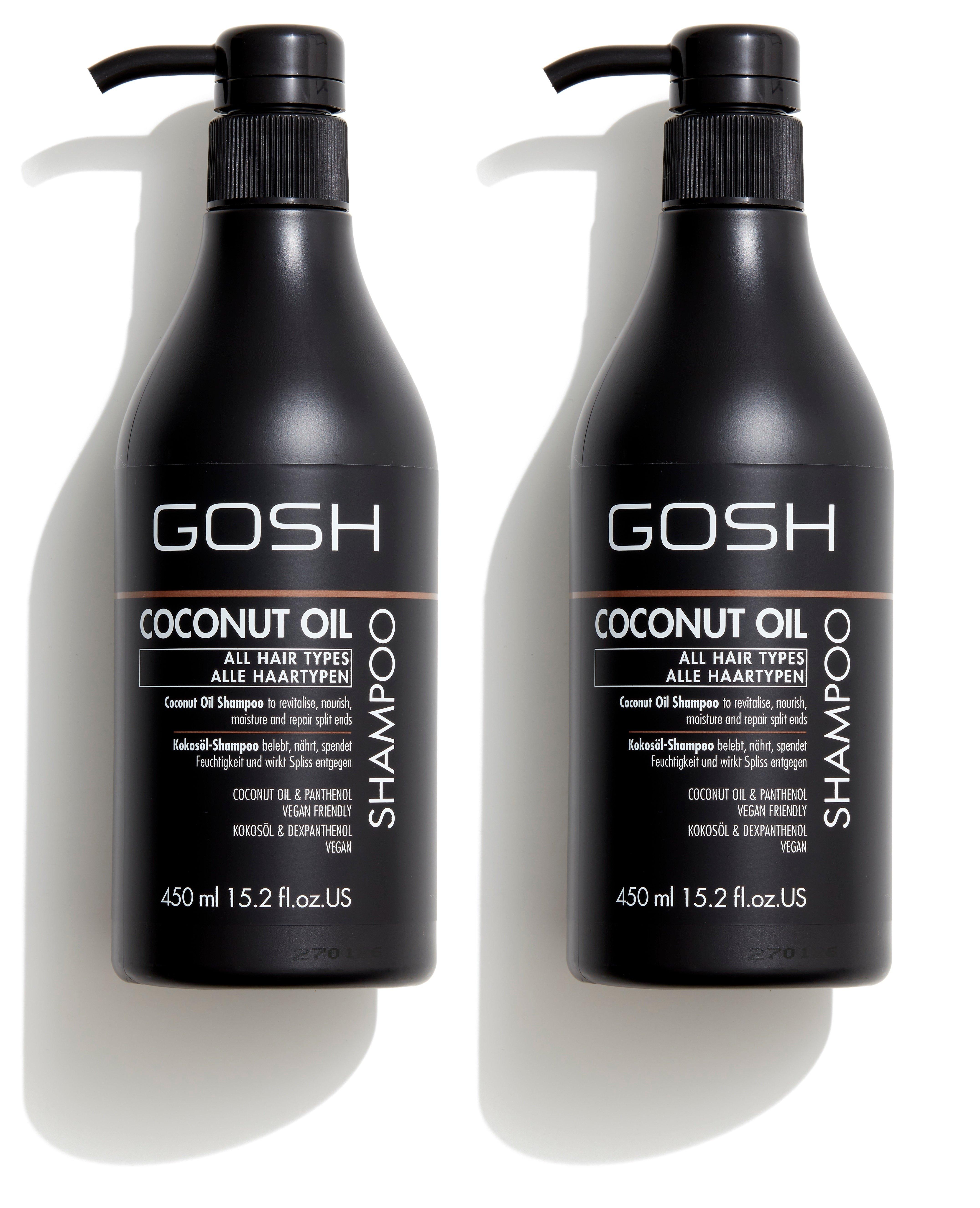 GOSH - 2 x Coconut Oil Shampoo 450 ml