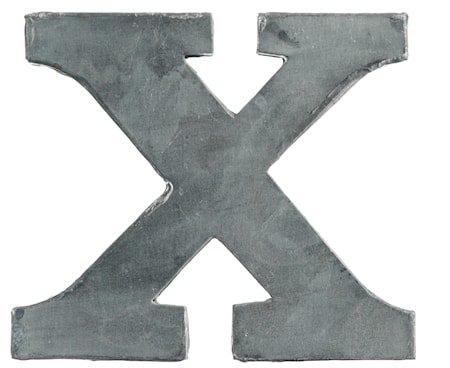 Bokstav X 5,5 cm - Zinc